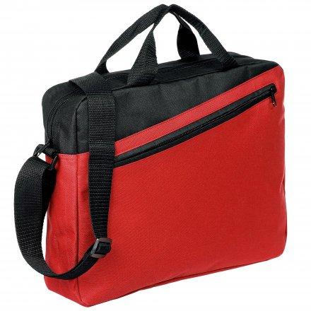 Конференц-сумка из оксфорда 600D, красная с черым