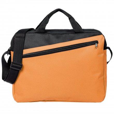 Конференц-сумка из оксфорда 600D, оранжевый с чёрным
