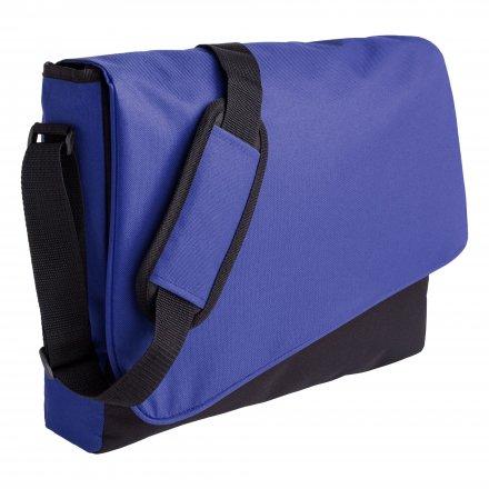 Конференц-сумка из оксфорда 600D, синяя с чёрным