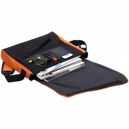 Конференц-сумка из оксфорда 600D, оранжевая с чёрным