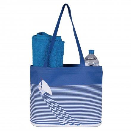 Пляжная сумка из оксфорда 600D, синяя