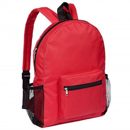 Рюкзак из оксфорда 600D с боковыми карманами, красный