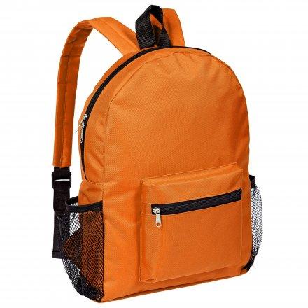 Рюкзак из оксфорда 600D с боковыми карманами, оранжевый