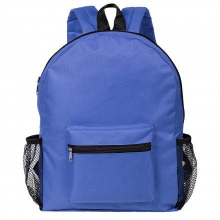 Рюкзак из оксфорда 600D с боковыми карманами, ярко-синий
