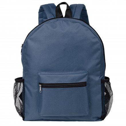 Рюкзак из оксфорда 600D с боковыми карманами, тёмно-синий
