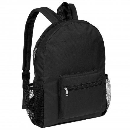 Рюкзак из оксфорда 600D с боковыми карманами, чёрный