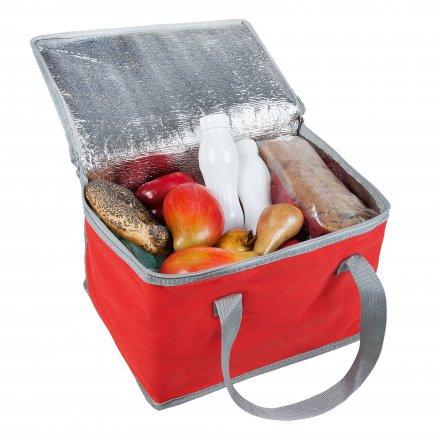 Сумка-холодильник средний из оксфорда 600D, красный