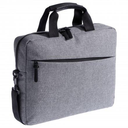 Промо конференц сумка из полиэстра 600D, серая