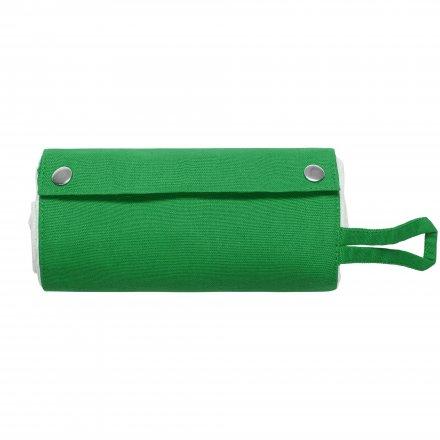 Складная промо сумка из хлопка, зеленая