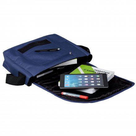 Сумка для ноутбука из полиэстра, синяя