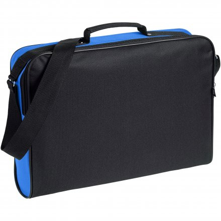 Конференц сумка для документов Institute чёрная с синим