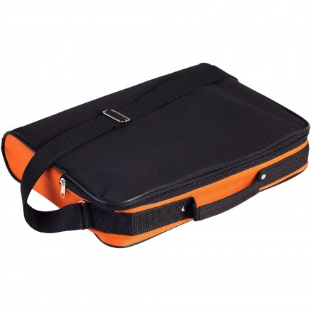 Конференц сумка для документов Institute, чёрная с оранжевым