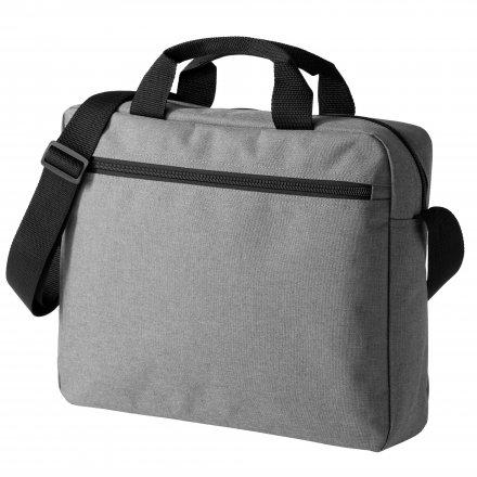 Конференц сумка через плечо из оксфорда 600D, серая