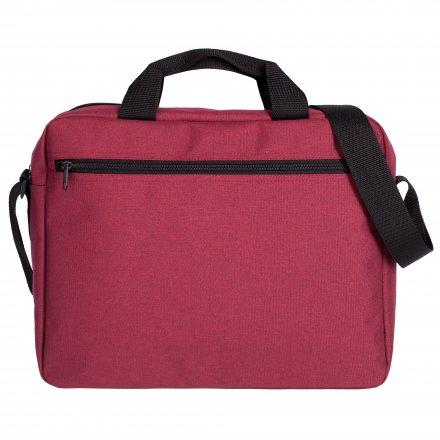Конференц сумка через плечо из оксфорда 600D, бордовая