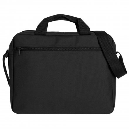 Конференц сумка через плечо из оксфорда 600D, чёрная