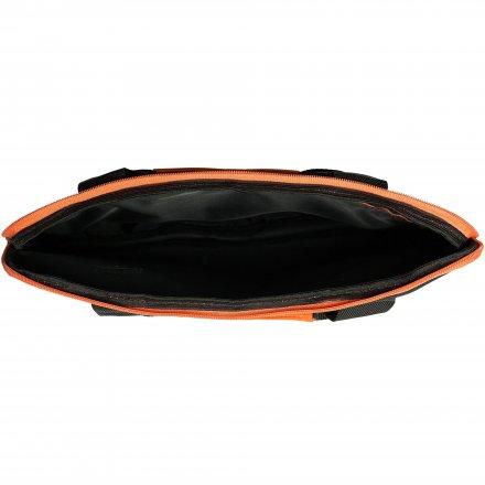 Конференц-сумка из оксфорда 600D, чёрная с оранжевым