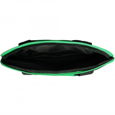 Конференц-сумка из оксфорда 600D, чёрная с зелёным
