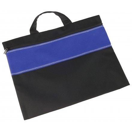 Конференц-сумка, ярко-синяя с черным