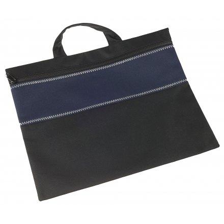 Конференц-сумка, темно-синяя с черным