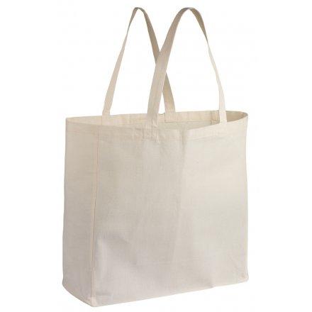 Холщовая промо сумка из бязи 50х50х15 см, квадратная объемная